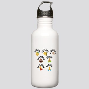 Emoji Week Days Stainless Water Bottle 1.0L