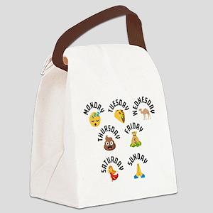 Emoji Week Days Canvas Lunch Bag