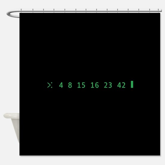 Lost Numbers Shower Curtain