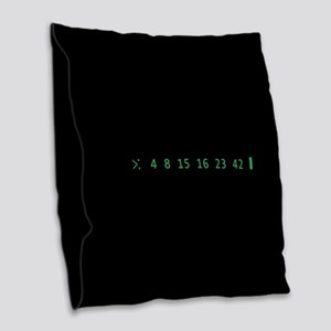Lost Numbers Burlap Throw Pillow