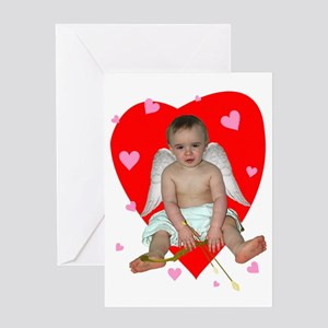 Lots of Hearts Cupid Greeting Card