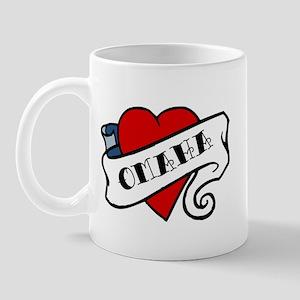 Omaha tattoo heart Mug