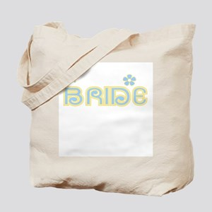 Fun Colors Bride Blue/Yellow Tote Bag