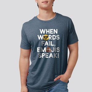 Emoji Words Fail Emojis Spe Mens Tri-blend T-Shirt