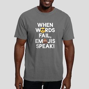 Emoji Words Fail Emojis Mens Comfort Colors Shirt