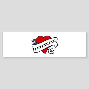 Lafayette tattoo heart Bumper Sticker