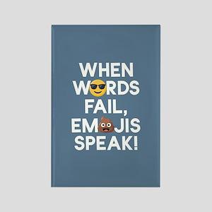 Emoji Words Fail Emojis Speak Rectangle Magnet