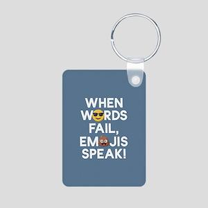 Emoji Words Fail Emojis Sp Aluminum Photo Keychain