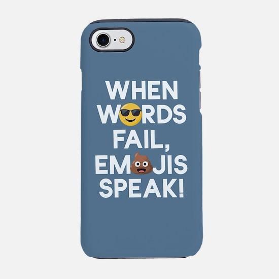 Emoji Words Fail Emojis Spea iPhone 8/7 Tough Case