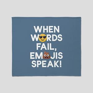 Emoji Words Fail Emojis Speak Throw Blanket
