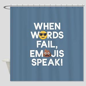 Emoji Words Fail Emojis Speak Shower Curtain