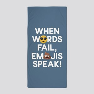 Emoji Words Fail Emojis Speak Beach Towel