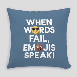 Emoji Words Fail Emojis Speak Everyday Pillow