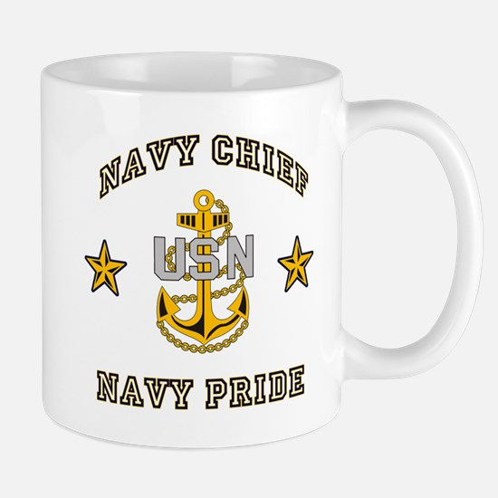 Navy Chief, Navy Pride Large Mugs