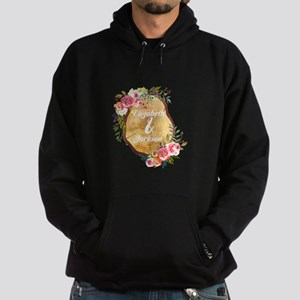Wood Slice Floral Monogram Sweatshirt