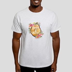 Wood Slice Floral Monogram T-Shirt