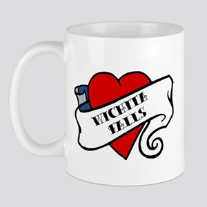 Wichita Falls tattoo heart Mug