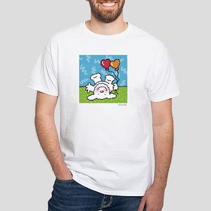 funny upside-down dog White T-Shirt