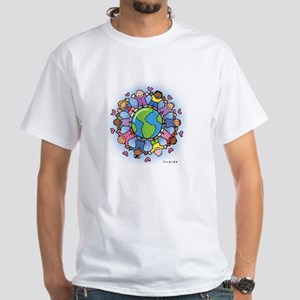 kids on earth White T-Shirt