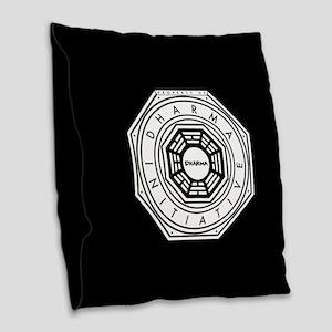 Lost Property Dharma Initiativ Burlap Throw Pillow