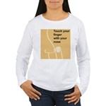 Touch Your Finger with Your N Women's Long Sleeve