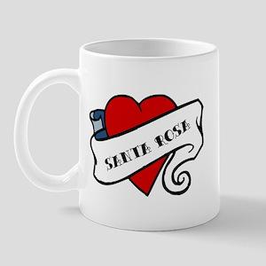 Santa Rosa tattoo heart Mug