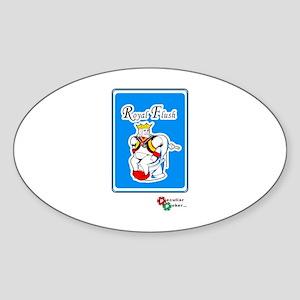 Royal Flush Oval Sticker