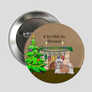"A Very Shih Tzu Christmas 2.25"" Button"