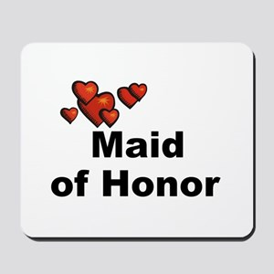 Hearts Maid of Honor Mousepad