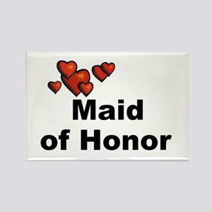 Hearts Maid of Honor Rectangle Magnet