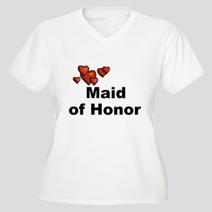 Hearts Maid of Honor Women's Plus Size V-Neck T-Sh