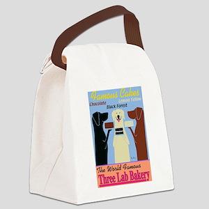 Three Lab Bakery Canvas Lunch Bag