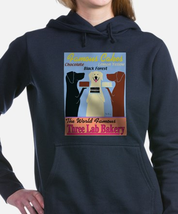 Three Lab Bakery Women's Hooded Sweatshirt