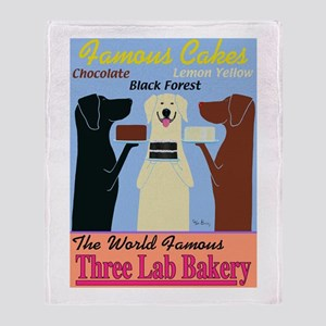Three Lab Bakery Throw Blanket