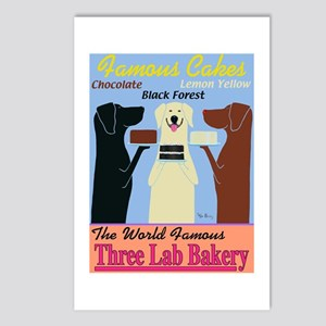 Three Lab Bakery Postcards (Package of 8)