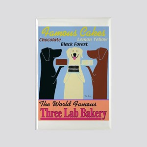 Three Lab Bakery Rectangle Magnet