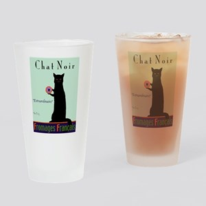 Chat Noir (Black Cat) Drinking Glass