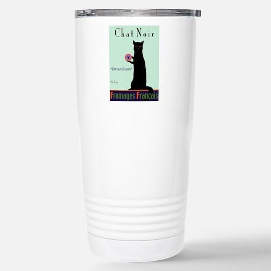 Chat Noir (Black Cat) Stainless Steel Travel Mug
