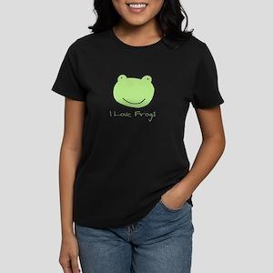 I Love Frogs Women's Dark T-Shirt