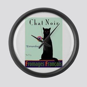 Chat Noir (Black Cat) Large Wall Clock