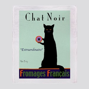 Chat Noir (Black Cat) Throw Blanket