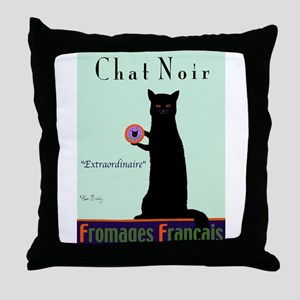 Chat Noir (Black Cat) Throw Pillow