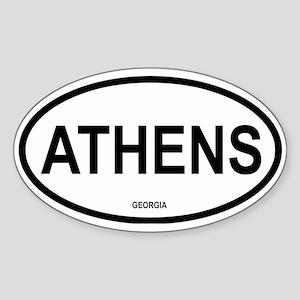 Athens Oval Sticker