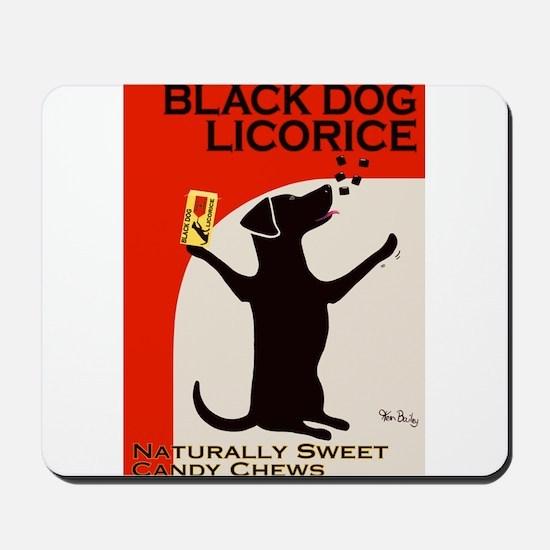 Black Dog Licorice Mousepad