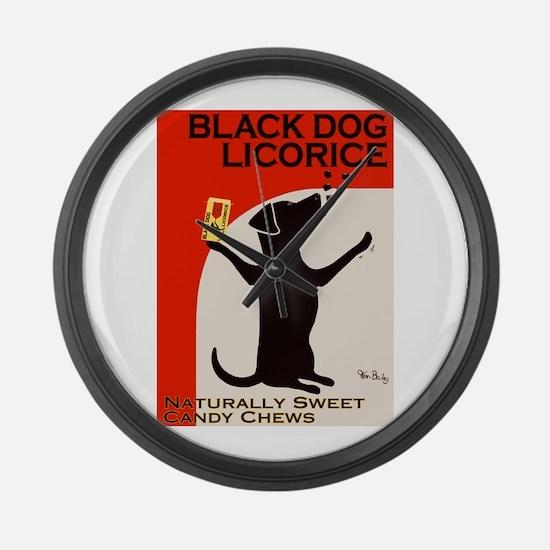 Black Dog Licorice Large Wall Clock