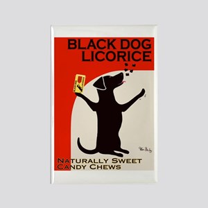 Black Dog Licorice Rectangle Magnet