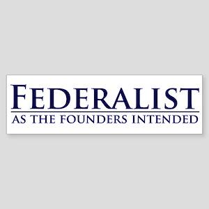 Federalist Bumper Sticker