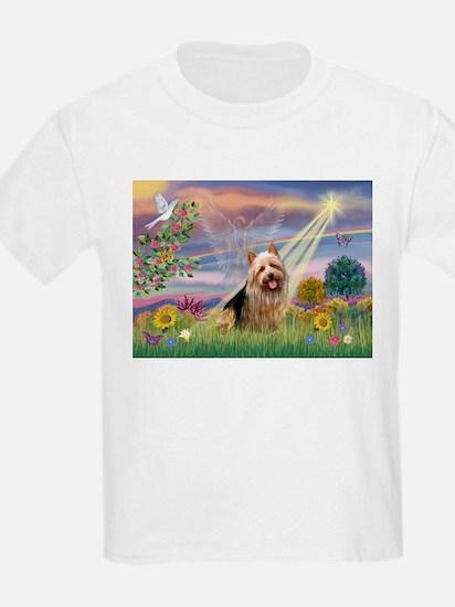 Clous Angel Aussie Terrier Kids T-Shirt
