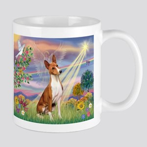 Cloud Angel & Basenji Mug