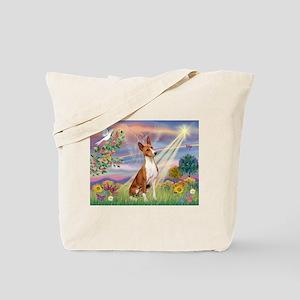 Cloud Angel & Basenji Tote Bag